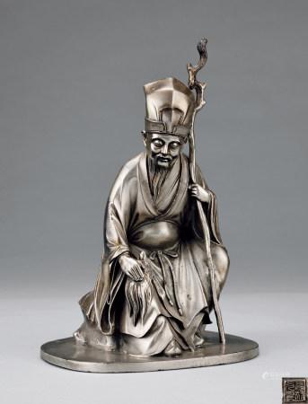 银製高士像