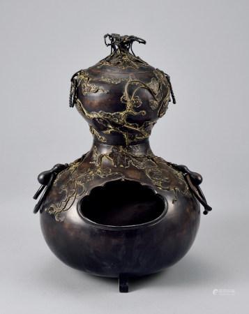 铜製葫芦形风釜