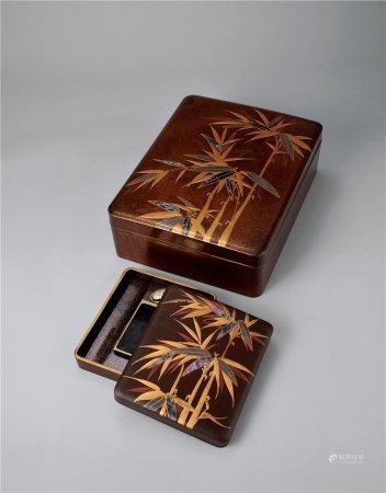 光琳莳绘文具盒一组