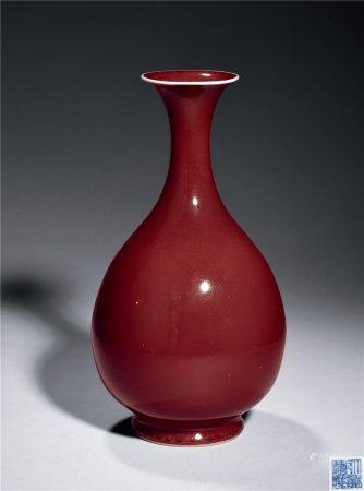 清红釉玉壶春瓶