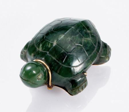 青玉18K金龟