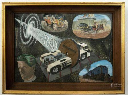 "Gemälde ""Am Anfang war das Rad"""