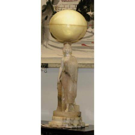 A Alabast and Marble lamp