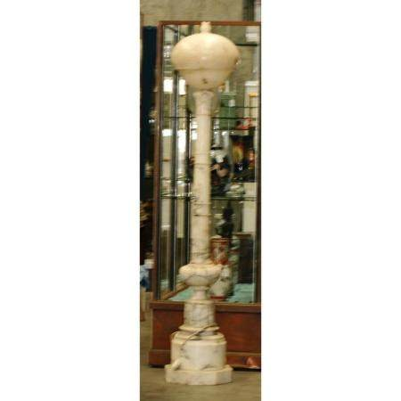 A marble lamp stature