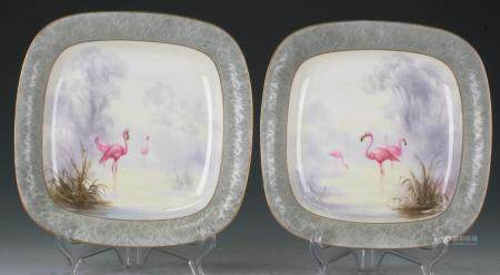 Pair of Worcester plates