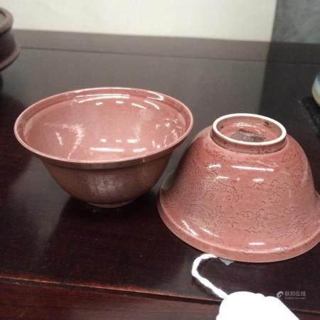 pair of Chinse tea bowls