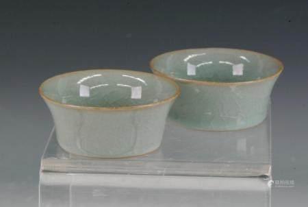 pai of chinese tea bowl