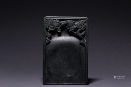 DUAN STONE CARVED 'DRAGON' INK STONE
