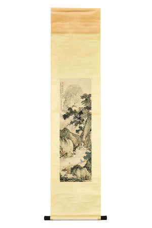 CHEN SHAOMEI: INK AND COLOR ON PAPER PAINTING 'MOUNTAIN SCENERY'
