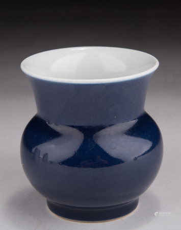 BLUE GLAZED SPITTOON