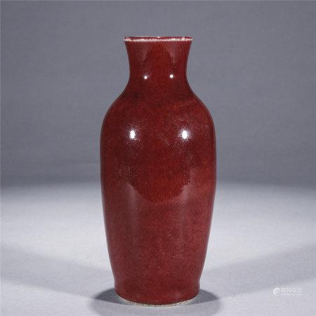 红釉观音瓶