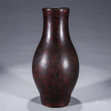 犀皮漆橄榄瓶