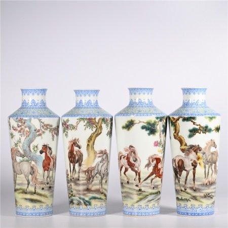 Qing Dynasty Qianlong famille rose vase