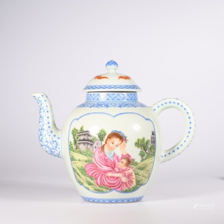 Qianlong famille rose teapot