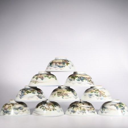 Qing Jiaqing famille rose bowl