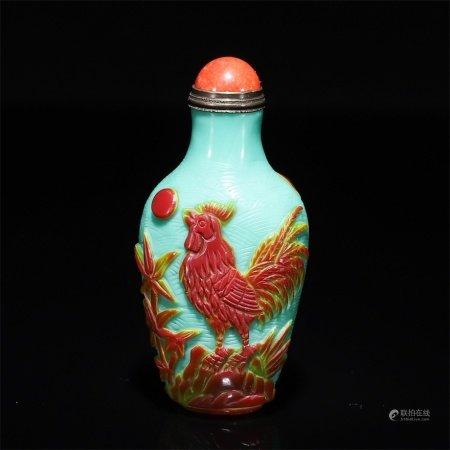 A chicken snuff bottle