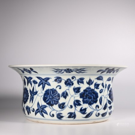 Yongle blue and white basin in Ming Dynasty