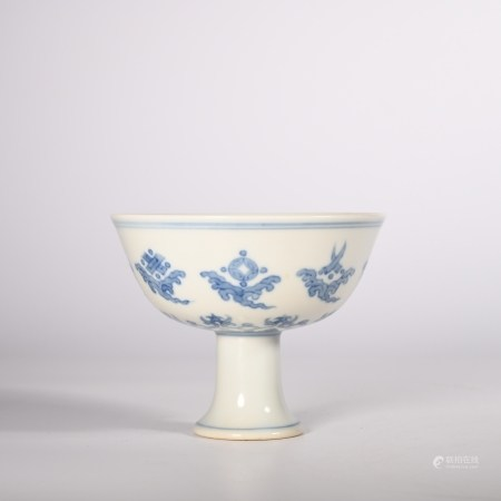 Chenghua blue and white Goblet of Ming Dynasty