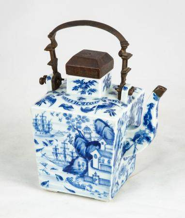 Chinese Blue & White Teapot