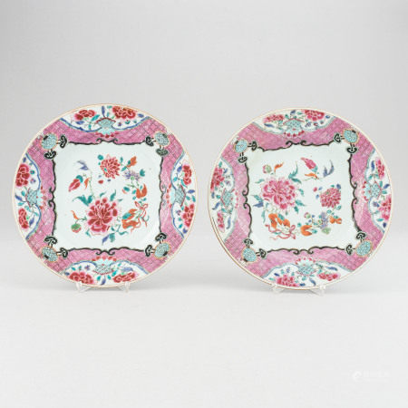 A pair of famille rose export porcelain serving dishes, Qing dynasty, Yongzheng (1723-35).