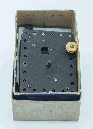 A vintage boxed Meccano No 1 clockwork motor 10 x 7.5cm.