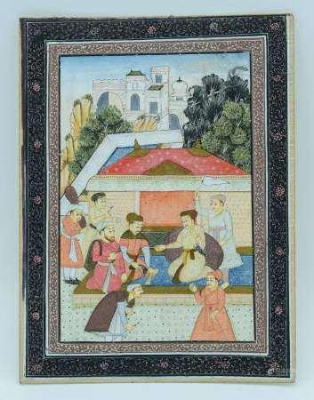 Indian Gouache painting 20 x 26.5cm.