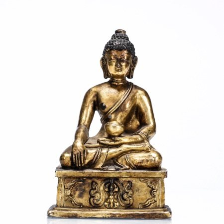 Ming dynasty, gilt bronze seated statue of Bhaisajyaguru buddha
