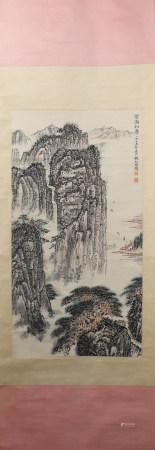 A Qian songyan's landscape painting