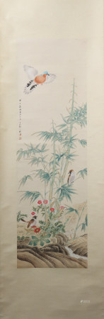 A Zou yigui's flowers and birds painting