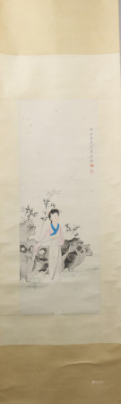 A Chen shaomei's figure painting