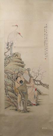 A Qian huian's figure painting