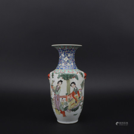 A famille-rose 'figure' vase