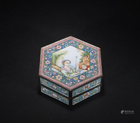 A  Enamel Jewelry box