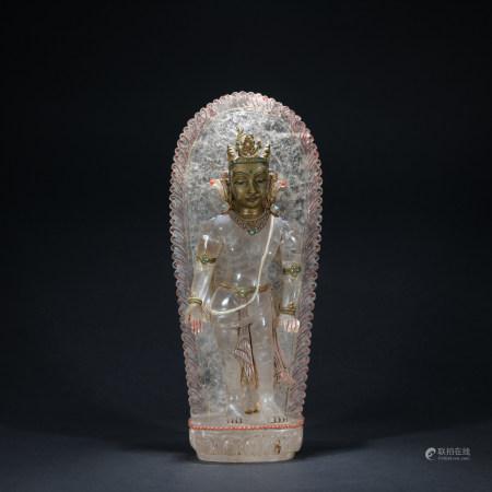A  crystal statue of Guan yin