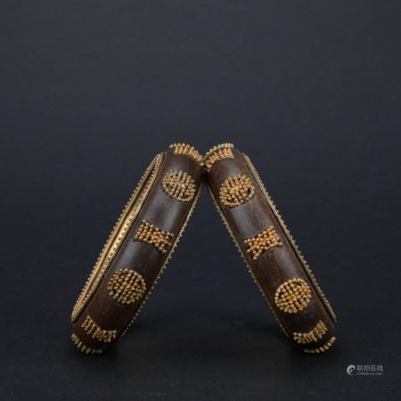 A  eaglewood bracelet 1*pair