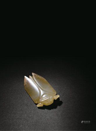清代  白玉蝉