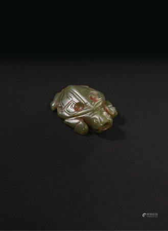 清代  青玉龟