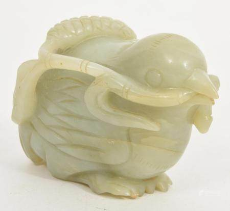 Chinese Hand-Carved Jade Bird Figure