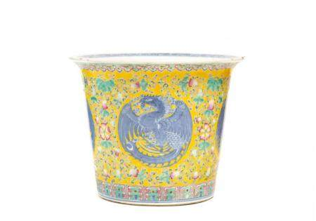 Chinese Famille Jaune Porcelain Jardiniere