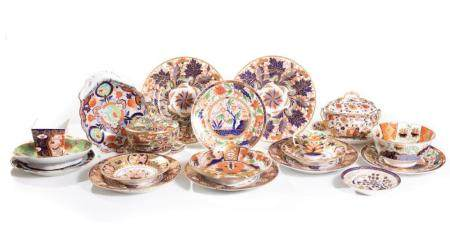 Group of 21 pieces of Assorted English Imari China