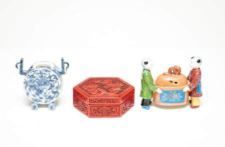 Group of 3 Chinese and Chinoiserie Style Items