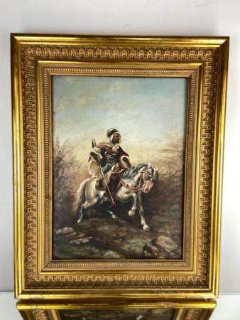 OIL PAINTING ON PANEL SIGNED R. TRINIDAD