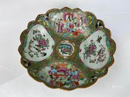 A LARGE 19TH C. CHINESE FAMILLE ROSE BOWL