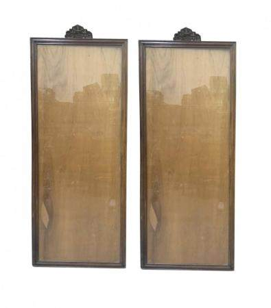 A PAIR OF CHINESE WOOD FRAMES