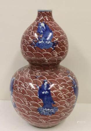 Antique Chinese Enamel Decorated Globular Vase.
