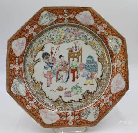Chinese Enamel Decorated Porcelain Charger.