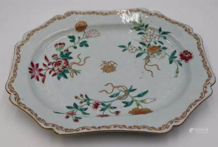 18th Century Chinese Export Porcelain Platter