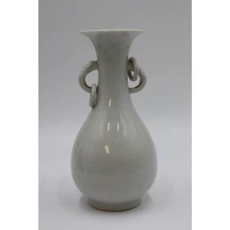 Chinese White Glazed Porcelain Bottle Vase.