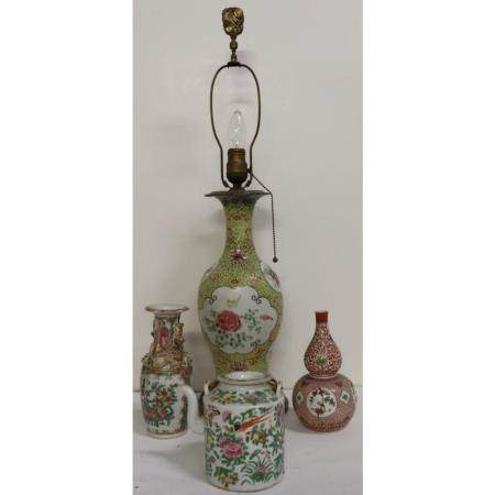 Antique Chinese Porcelain Grouping.