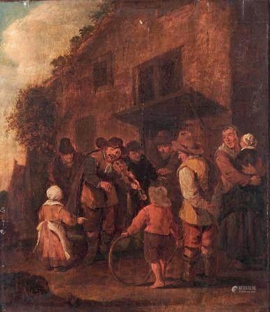 ÉCOLE FLAMANDE du XVIIIe siècle, dans le goût de Van OSTADE